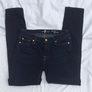 7FAMK Blue Jeans skim cigarette size 30 heemed
